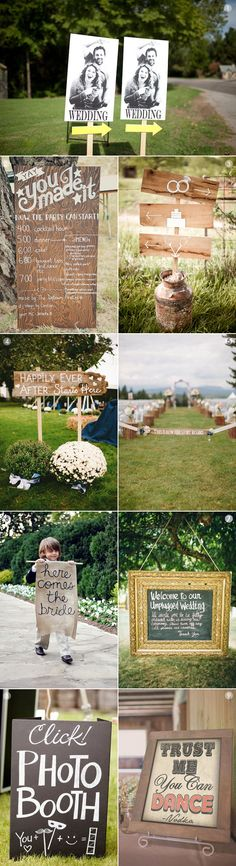 Hochzeitsschilder Ideen