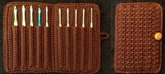 DIY Learn How to Crochet Hook Case Holder Folder Wallet – Storage for Hooks For those of you who wonder if it's possible to add a second layer of pockets without altering the pattern at all, the answer is: yes! You can fit the second row of hooks through the stitches above the pockets …
