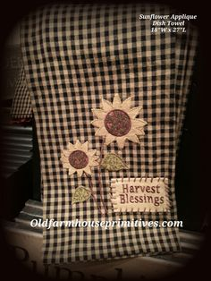 Sunflower Applique Dish Towel