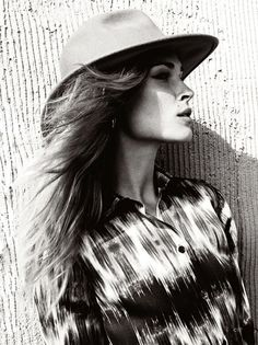 Black & White Beauty: Erin Wasson in C Magazine