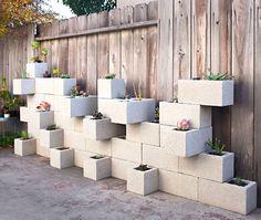 fioriera blocchi di cemento