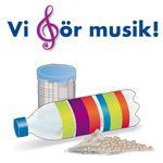 Teknik tillsammans - vi gör musik! Kid Experiments, Pre School, Education, Trumpet, Mosaics, Peppa Pig, Children Garden, Guitar, Dekoration