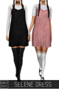 Simpliciaty: Selene dress • Sims 4 Downloads