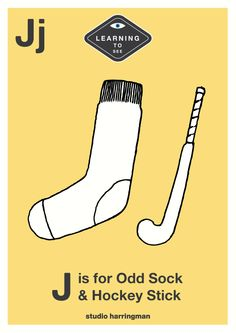 Jj - J is for Odd Sock and Hockey Stick