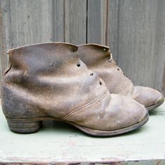 1840 Leather Brogans (worn by working women, too)