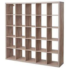 KALLAX Shelf unit - walnut effect light gray - IKEA IKEA – KALLAX, Shelf unit, walnut effect light gray, You can use the furniture as a room divider Etagere Kallax Ikea, Ikea Kallax Shelf Unit, Ikea Kallax Regal, Bookshelf Room Divider, Bookshelves, Sala Grande, Grey Shelves, Cube Storage, Storage Ideas