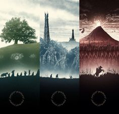 Lotr posters by Marko Manev
