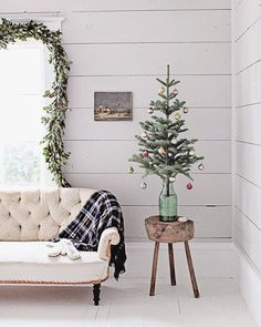 A collection of cozy, romantic, serene farmhouse Christmas moments spotlighting some of my favorite holiday design inspiration.
