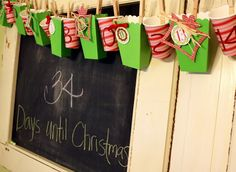 Hanging Advent Calendar plus Free Printable Tags