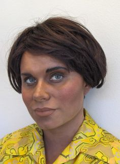 Turning a white girl into a black girl. Model: Maarit