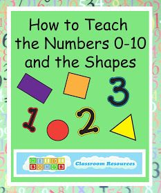 Heidisongs Resource: How to Teach the Numbers 0-10 and the Shapes