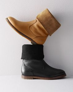 Equal parts refinement and rugged individualism, these pull-on boots by Trask are made of buttery-soft leather — wear them straight up or flipped down (the suede interior makes a great textural cuff).