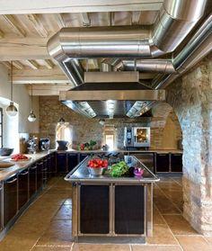 in der küche holz und stein kombinieren | ideen rund ums haus, Hause ideen