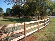 Black Post And Rail Wood Automated Driveway Gate Any Way