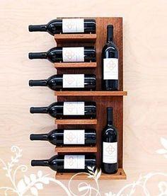 suporte de parede para vinho para 8 garrafas
