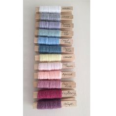Going to try to go on a yarn diet and reduce my crazy amount of yarn stash.  My first project to help with this is going to be a temperature blanket and these are the colours I've chosen x