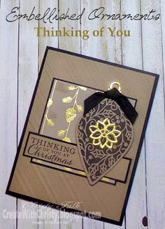 Stampin' Up! Embellished Ornaments Christmas Card - Create With Christy - Christy Fulk, Stampin' Up! Demo
