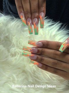"""Receive excellent suggestions on """"nail paint ideas design"""". They are on call for you on our website. Claw Nails, Nails Now, How To Do Nails, Acrylic Nail Shapes, Acrylic Nails, Nail Pops, Nail Candy, Ballerina Nails, Nail"""