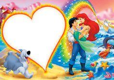 Cute Kids PNG Transparent Frame with Princess Ariel