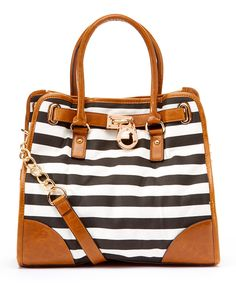 Look at this Black Sophie Leather Tote on #zulily today!