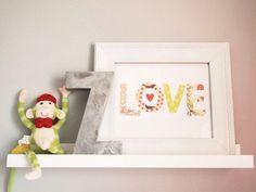 nursery print wall art love