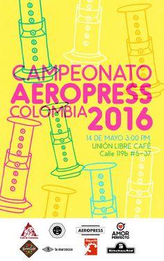 World AeroPress Championship Kitchenaid, Rad Coffee, Aeropress Coffee, Event Photos, French Press, Barista, Typography, World, Posters