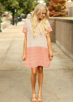 @roressclothes closet ideas #women fashion outfit #clothing style apparel Cute T-shirt Dress via