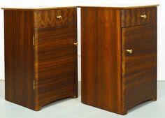 Mid Century Walnut Uniflex Bedside Cabinets
