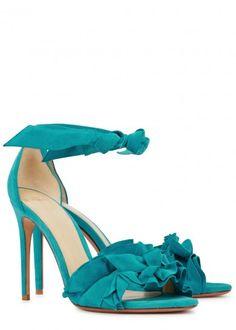 Alexandre Birman aqua suede sandals