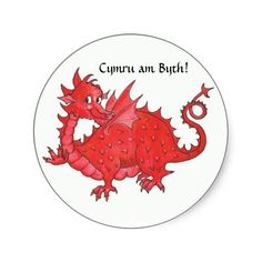 Customizable Stickers with Cute Welsh Red Dragon: £4.75 per sheet of 20 - #welsh #dragon - http://www.zazzle.co.uk/customizable_stickers_with_cute_welsh_red_dragon-217555752436680502?view=113228992575404873&rf=238041988035411422