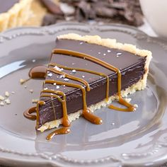 This simple and elegant Dark Chocolate Ganache Tart can be topped with anything you like, from a sprinkling of sea salt to dulce du leche or fresh berries. Chocolate Ganache Tart, Chocolate Desserts, Ganache Cake, Chocolate Cake, Tart Recipes, Dessert Recipes, Almond Cakes, Sweet Treats, Favorite Recipes