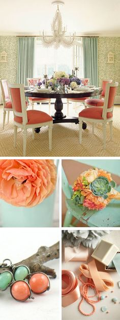 Coral and Seafoam reception inspiration