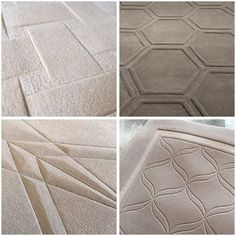 Carving sculpting into our hand tufted carpets rugs is always as precise