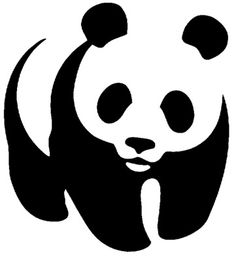 Airbrush tattoo stencil - panda bear new Hilograma Ideas, Wwf Logo, Panda Drawing, Airbrush Tattoo, Famous Logos, Tattoo Stencils, Best Logo Design, Cool Logo, Clever Logo
