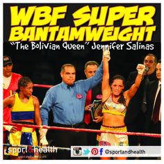 Congrats to Gainesville Sport&Health member Jennifer Salinas  on winning the WBF (World Boxing Federation) Super Bantamweight title in Santa Cruz De La Sierra, Bolivia in November 2013! In addition to her boxing workouts, Jennifer stays at the top of her game with group cycle and Insanity classes at Sport&Health!