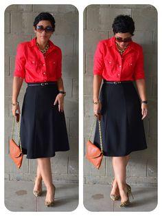mimi g.: DIY Classic Skirt: PR B3134 + Dont Cut Corners