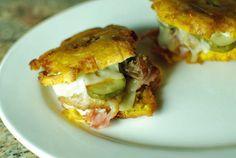 Mini Cuban Tostone sandwiches - The Food in My Beard