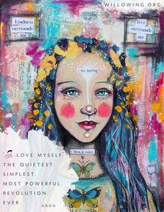 I love myself.... #journalArt by Tamara Laporte #self