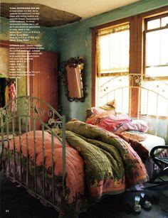 Romantic Boho Bedroom: Stylist Rebecca Purcell, Photographer Paul Wichelo...