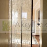 Sliding door made of resin with organic plants. Wall Partition, Acrylic Panels, Organic Plants, Door Wall, Sliding Doors, Resin, Design Ideas, Lights, Interior Design