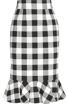 Dolce & Gabbana Gingham stretch-cotton skirt