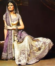 #indianwedding <3 purple gold indian bridal lengha