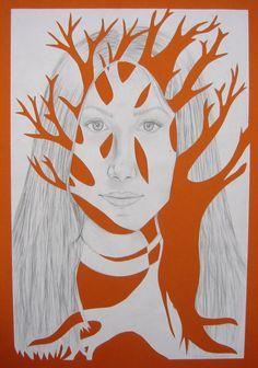 Portrait with Tree- interesting idea.