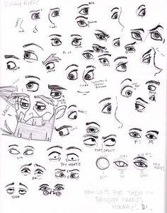 Disney Eyes by painting-monkey.deviantart.com