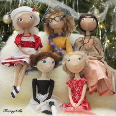 Handmade cloth dolls by Fancydolls.com #clothdoll #artdoll #handmade #gift