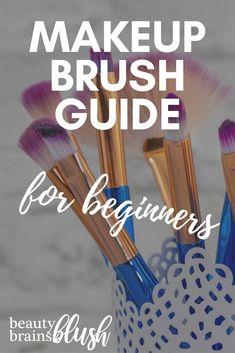 Ultimate Makeup Brush Guide for Beginners - BeautyBrainsBlush - Ultimate Makeup . - Ultimate Makeup Brush Guide for Beginners – BeautyBrainsBlush – Ultimate Makeup … – Ultimat - Highlighter Brush, Contour Brush, Contour Makeup, Contouring And Highlighting, Make Makeup, Basic Makeup, Makeup Kit, Makeup Basics, Makeup Tools