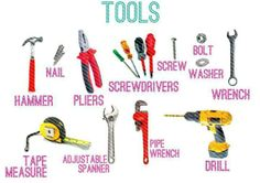 tools vocabulary in english