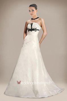Beautiful Perfect Scalloped-Edge Empire Floor Length Wedding Dress - Shop Online for Cheap Wedding Dress