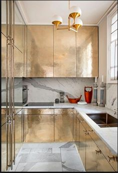 Designer Jean Louis Deniot.  Love the marble toe-kick, floor and backsplash, etc.  image credited to Jean Louis Deniot