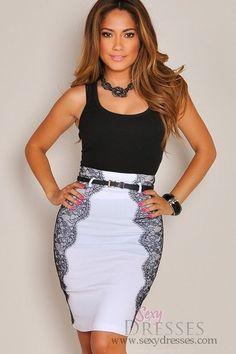 White with black - amazing!